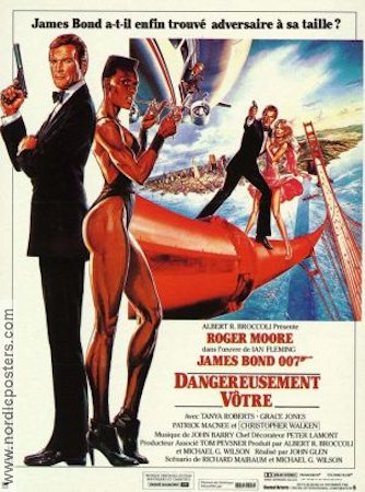 A View to a Kill 1985 Movie poster Roger Moore