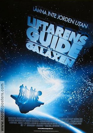The Hitchhiker's Guide to the Galaxy 2005 poster Sam Rockwell Garth Jennings