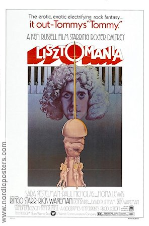 Lisztomania 1975 Movie poster Roger Daltrey Ken Russell