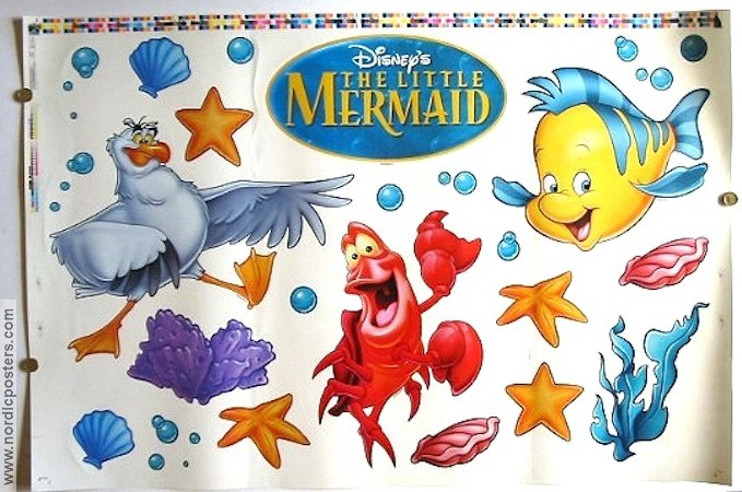 the little mermaid movie poster 1989 usa original