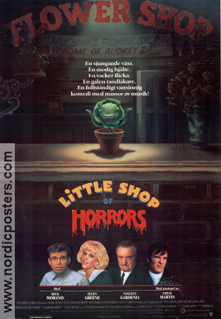 Little Shop of Horrors 1986 poster Rick Moranis Frank Oz