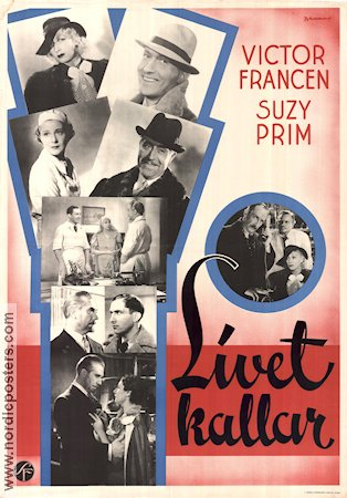 L'appel de la vie 1937 Movie poster Victor Francen
