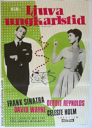 The Tender Trap 1956 Movie poster Frank Sinatra