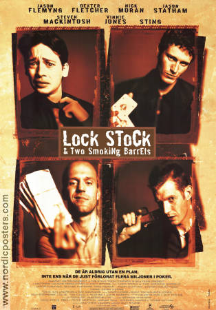 Lock Stock and Two Smoking Barrels 1998 Guy Ritchie Vinnie Jones Jason Flemyng Rick Moran Jason Statham Sting