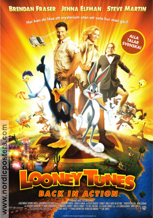 Looney Tunes Back in Action 2003 Movie poster Brendan Fraser