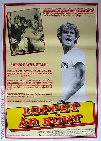 Breaking Away 1980 Movie poster Dennis Quaid Peter Yates