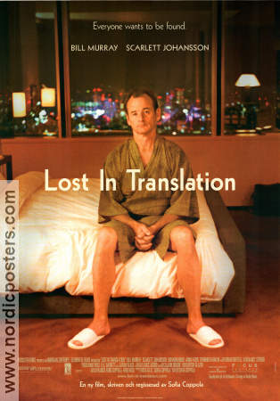 Lost in Translation 2003 Movie poster Bill Murray Sofia Coppola