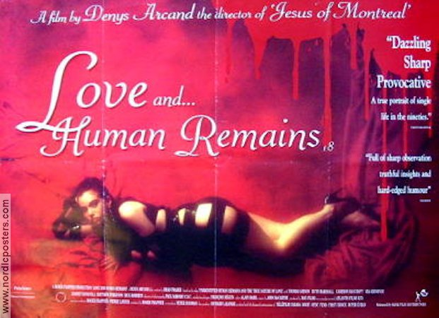 Love and Human Remains 1993 Movie poster Denys Arcand