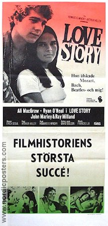Love Story 1971 Movie poster Ali MacGraw