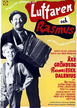 Luffaren och Rasmus 1955 Movie poster