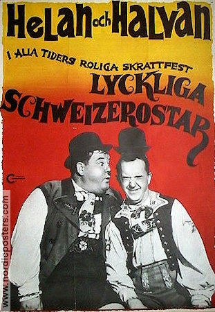 Swiss Miss 1938 Movie poster Laurel and Hardy
