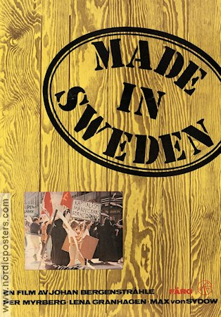 Made in Sweden 1969 Movie poster Per Myrberg Johan Bergenstr�hle