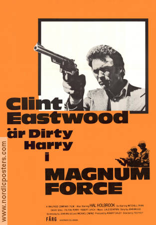 Magnum Force 1973 poster Clint Eastwood Ted Post