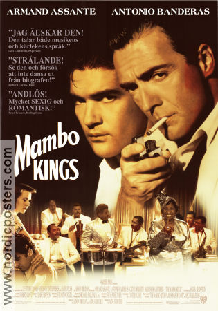 The Mambo Kings 1992 poster Antonio Banderas Arne Glimcher