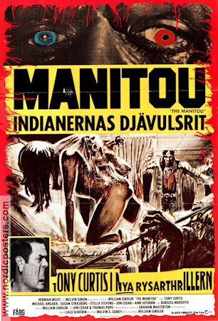 The Manitou 1977 poster Tony Curtis