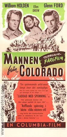 The Man From Colorado 1948 William Holden Glenn Ford Ellen Drew