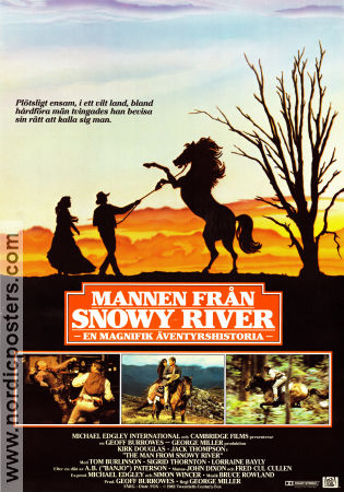 The Man from Snowy River 1982 poster Kirk Douglas