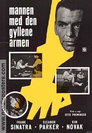 The Man with the Golden Arm 1956 poster Frank Sinatra Otto Preminger