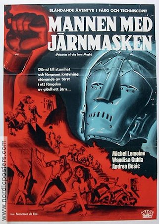 Prisoner of the Iron Mask 1962 Movie poster Michel Lemoine