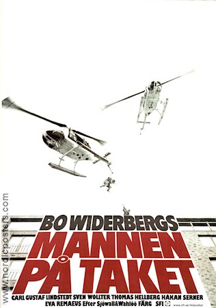 The Man On the Roof 1977 Movie poster Carl-Gustaf Lindstedt Bo Widerberg