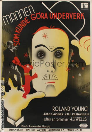 The Man Who Could Work Miracles 1936 poster Roland Young
