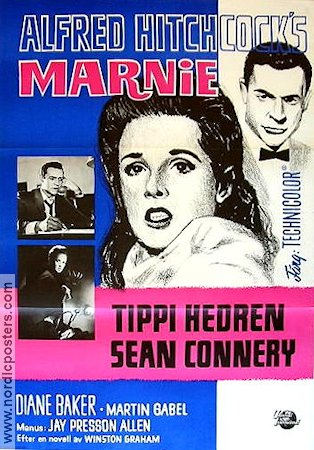 Marnie 1964 Alfred Hitchcock Tippi Hedren Sean Connery