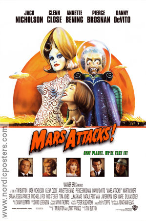 Mars Attacks 1997 Tim Burton Jack Nicholson Glenn Close Pierce Brosnan Annette Bening