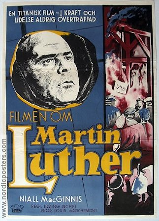 Martin Luther 1954 Movie poster Niall MacGinnis