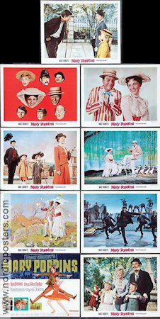 Mary Poppins 1964 lobby card set Julie Andrews Robert Stevenson