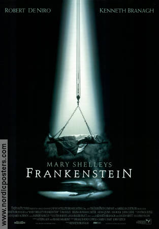 Mary Shelley's Frankenstein 1994 poster Kenneth Branagh