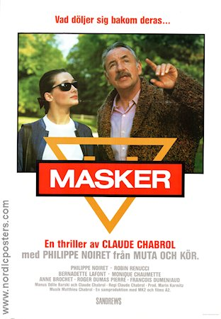 Masques 1987 poster Philippe Noiret Claude Chabrol