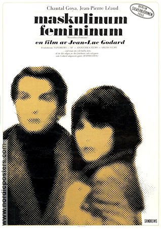 Masculin Feminin 1966 Movie poster Chantal Goya Jean-Luc Godard