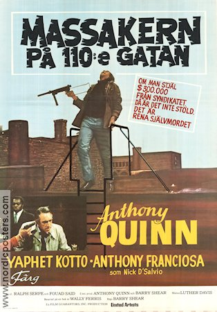 Across 110th Street 1973 poster Anthony Quinn