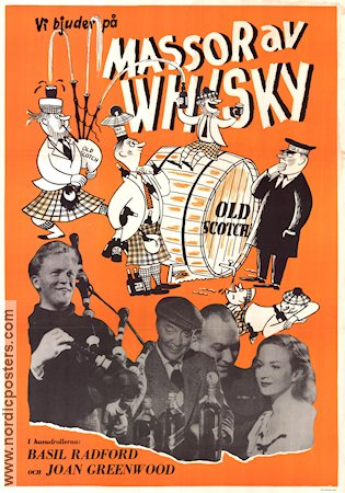 Whisky Galore 1949 Movie poster Basil Radford