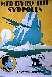 With Byrd at the South Pole 1930 poster Amiral Byrd