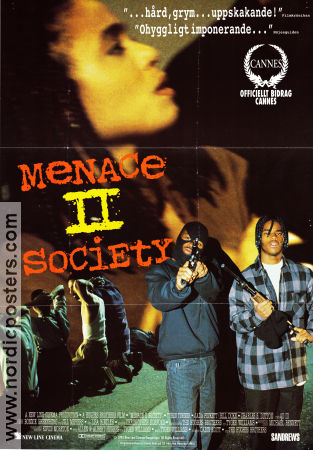 TYRIN TURNER Menace II Society Movie poster 1993 original ...