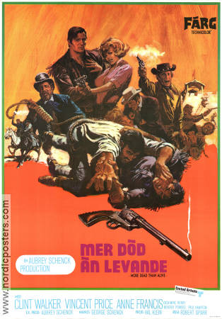 More Dead Than Alive 1969 poster Clint Walker Robert Sparr