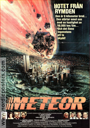 Meteor 1979 poster Sean Connery Ronald Neame