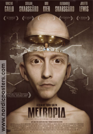 Metropia 2009 Movie poster Vincent Gallo