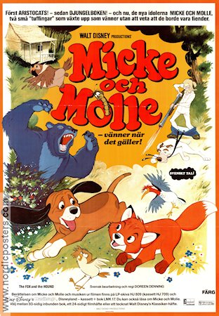 the fox and the hound movie poster 1981 original nordicposters
