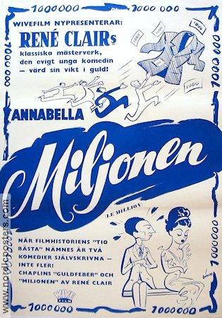 Le million Rene Clair vintage movie poster