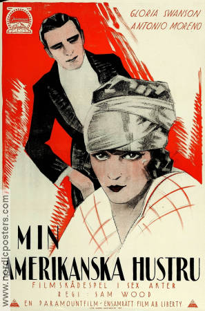 My American Wife 1924 poster Gloria Swanson Sam Wood