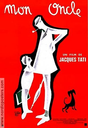 Mon Oncle 1959 Movie poster Jean-Pierre Zola Jacques Tati