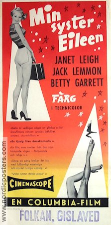 My Sister Eileen 1956 poster Janet Leigh