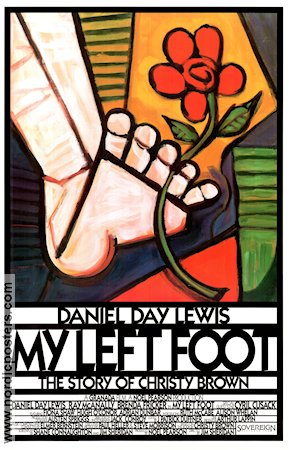 My Left Foot 1989 Movie poster Daniel Day-Lewis