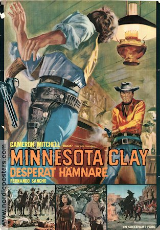 Minnesota Clay 1965 poster Cameron Mitchell