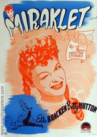 The Miracle of Morgan's Creek 1944 poster Betty Hutton