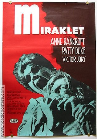 The Miracle Worker 1963 Movie poster Anne Bancroft