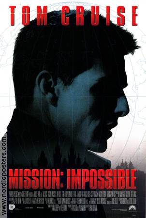 Mission Impossible 1996 poster Tom Cruise Brian De Palma