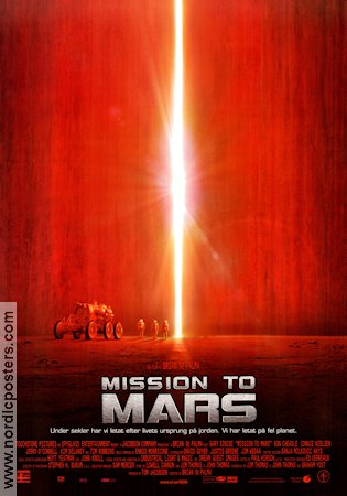 Mission to Mars 2000 poster Gary Sinise Brian De Palma